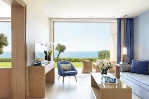 Familie Suite - 1 slaapkamer met tuin Zeezicht